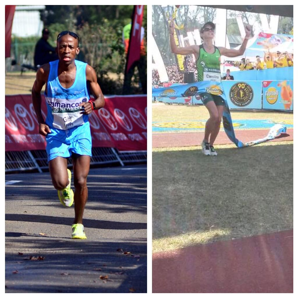 Medihelp on champion congrats to gift kelehe and caroline wostman comrades2015 champions comradesrace negle Choice Image