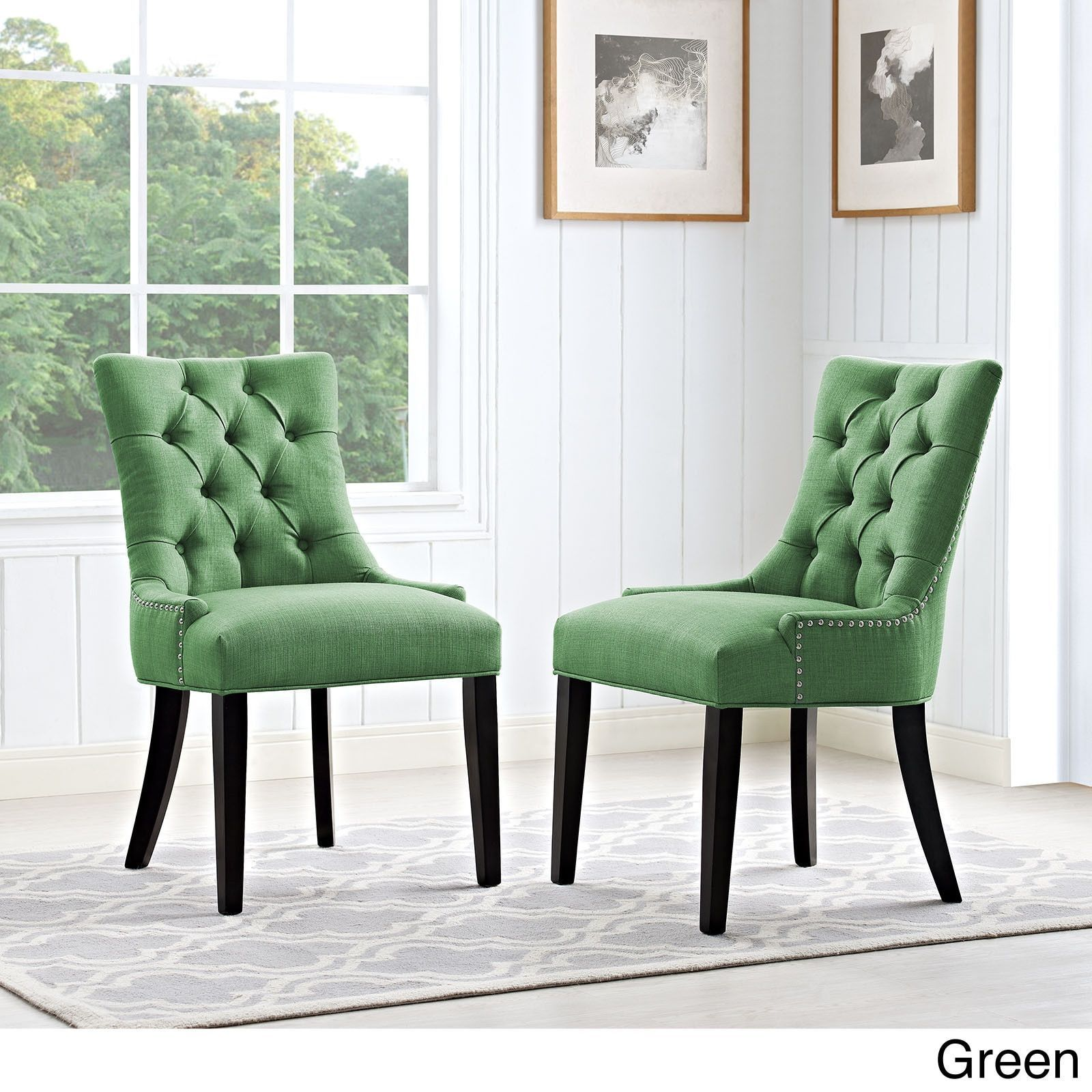 Modway Regent Button Tufted Fabric Dining Chair (Single Chair ...