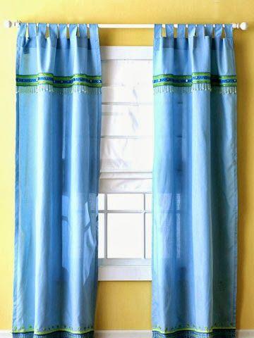 Renove as cortinas e gastando pouco Cortinas y Blog - cortinas azules