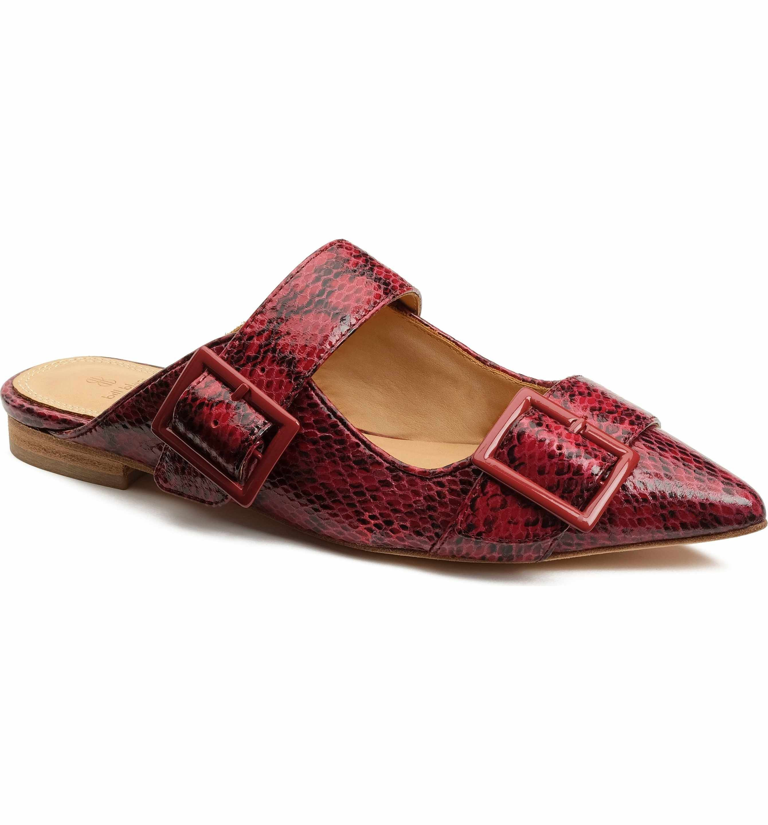 shopping online clearance Bill Blass Leather Pointed-Toe Mules sale really factory outlet cheap online perfect cheap price free shipping fashion Style 9knxqRlk