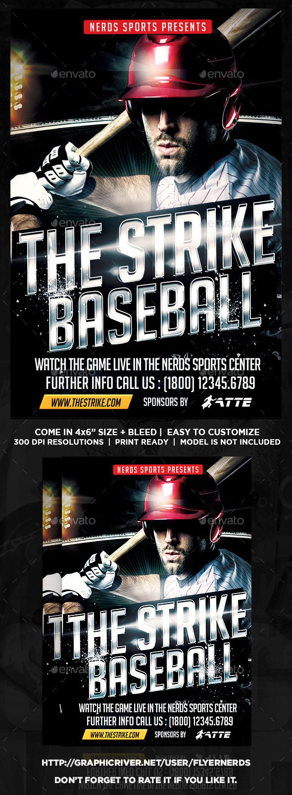 The Strike Baseball Flyer  Event Flyers Fonts And Font Logo