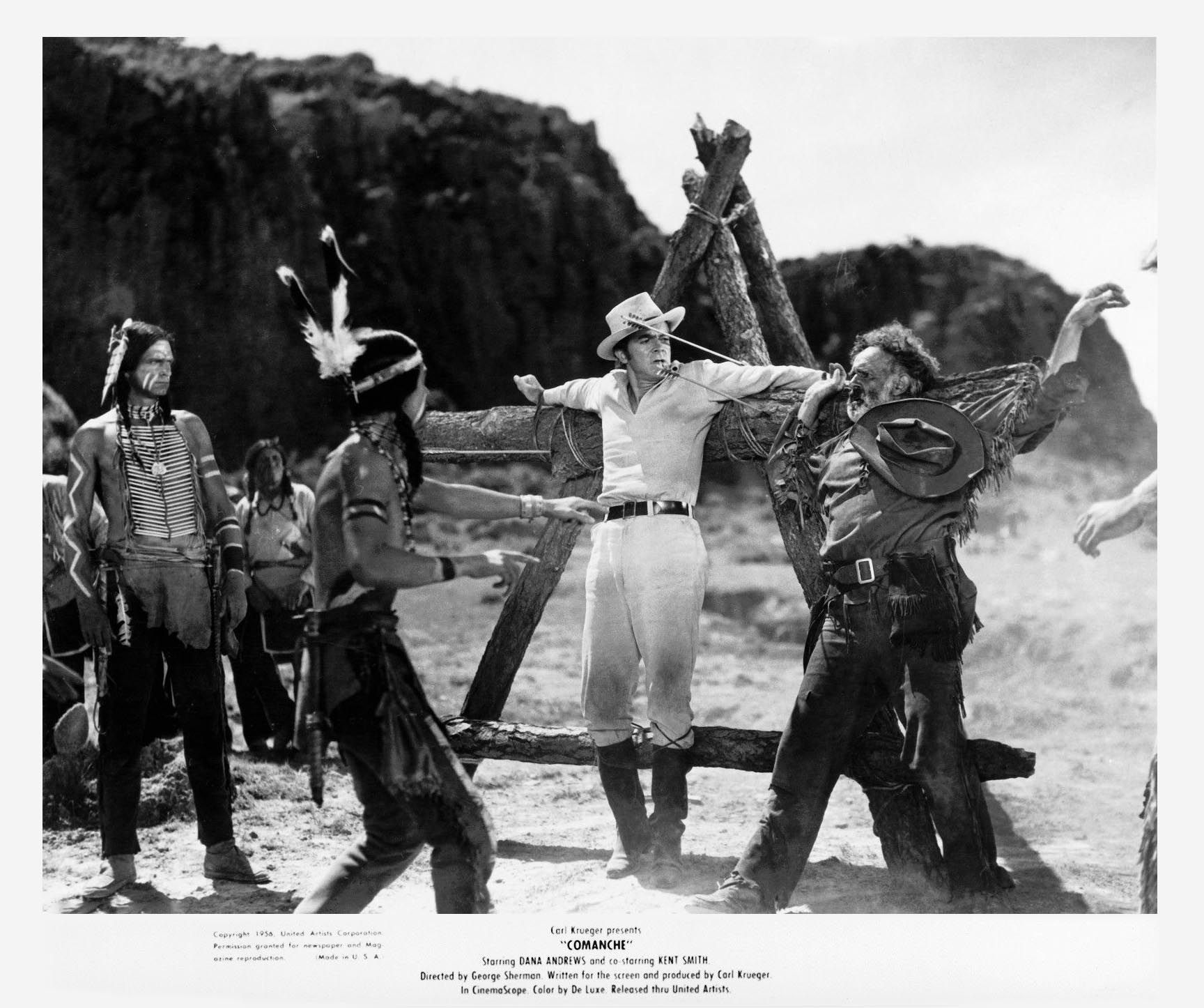 Dana Andrews, Stacy Harris, Henry Brandon - Comanche (1956)
