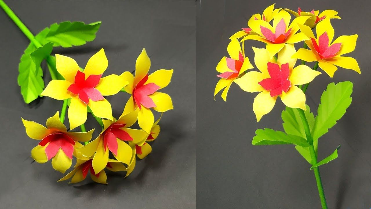 Paper Stick Flower Easy Handcraft Idea For Paper Stick Flower