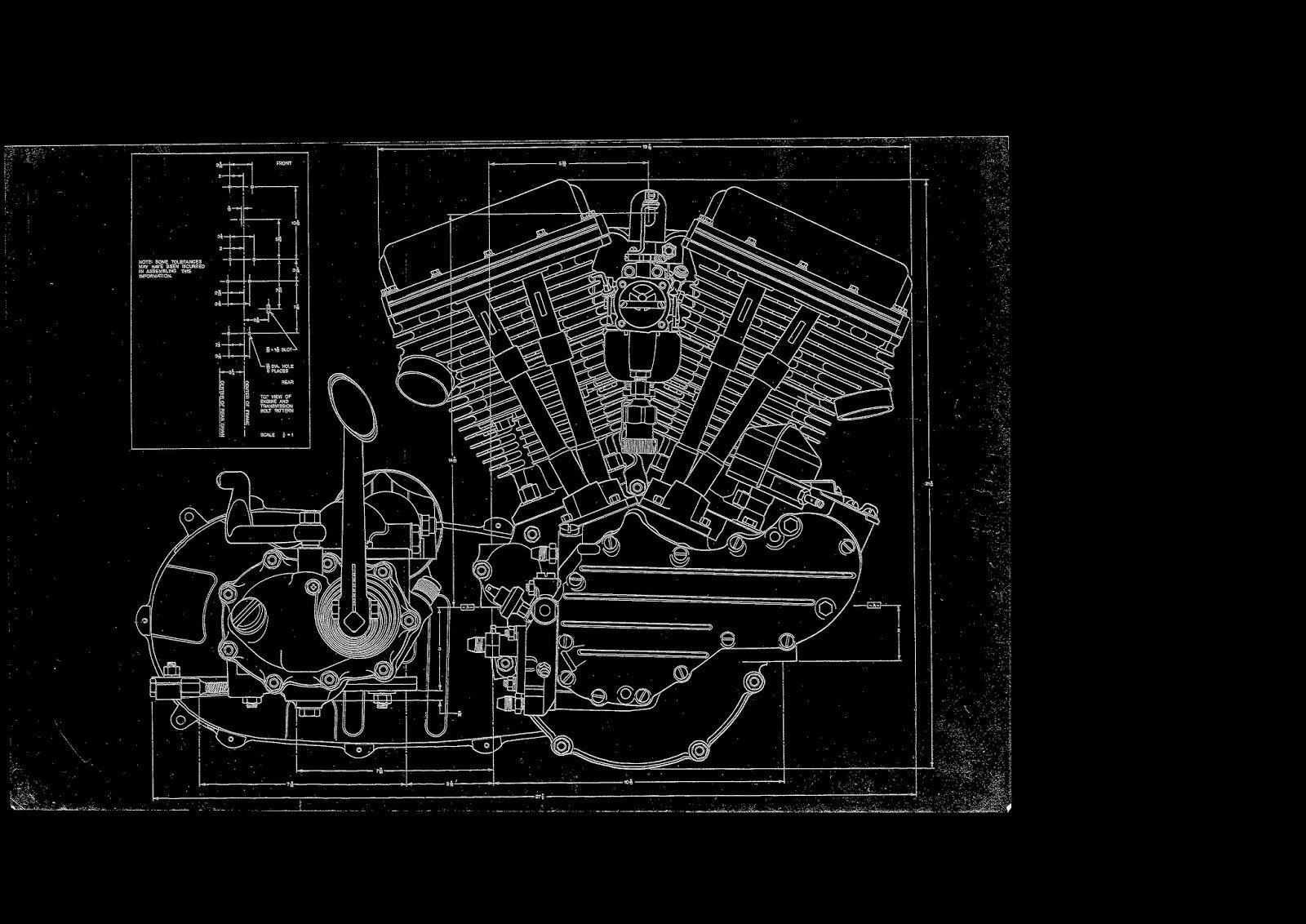 Harley davidson fl panhead engine blueprint blueprint harley davidson fl panhead engine blueprint malvernweather Images