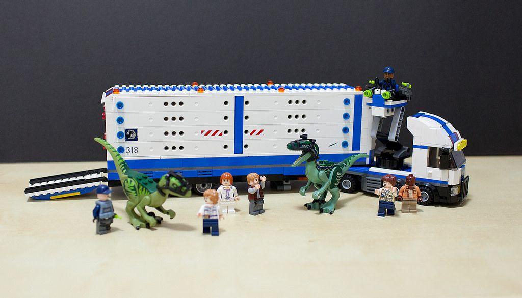 Moc Jurassic Park Raptor Transport Jurassic Park Lego