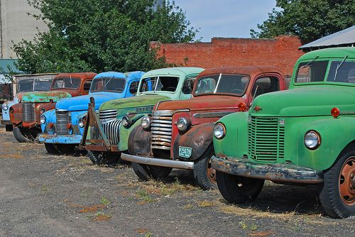 Old Truck Collection With Images Old Trucks Trucks Vintage