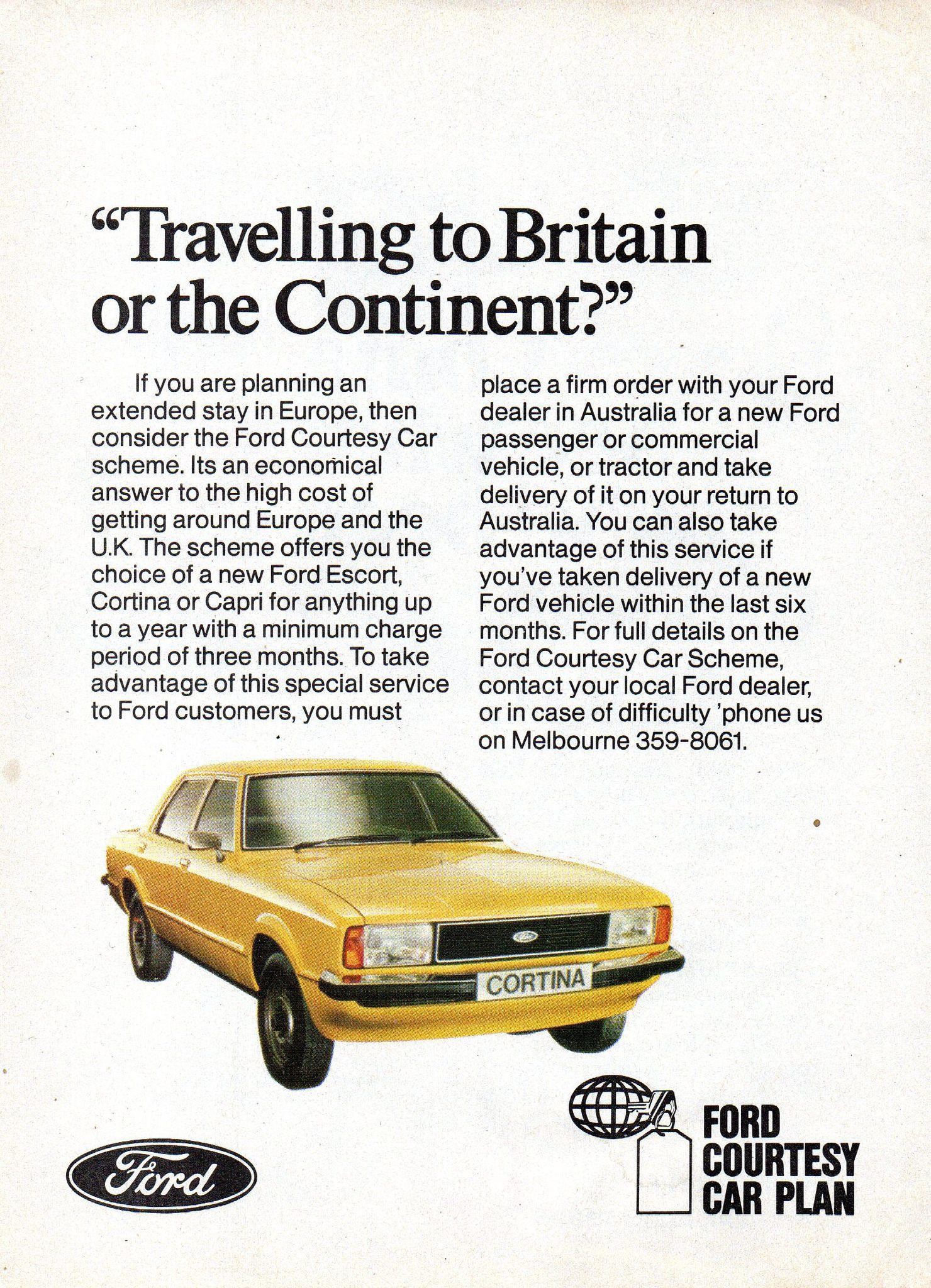 1978 Ford Courtesy Plan Te Ford Cortina Aussie Original Magazine