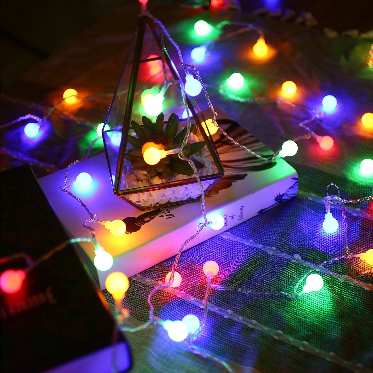 5 x 10m 33ft COOL WHITE 100 LED Twinkle Fairy String Light 8 Modes Holiday Decor