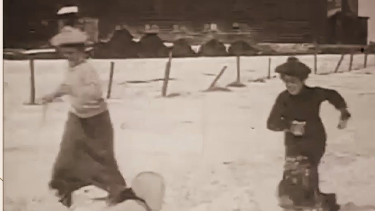 Edwardian Girls go for a Sleigh Ride in 1906 | ENGLAND videos ...