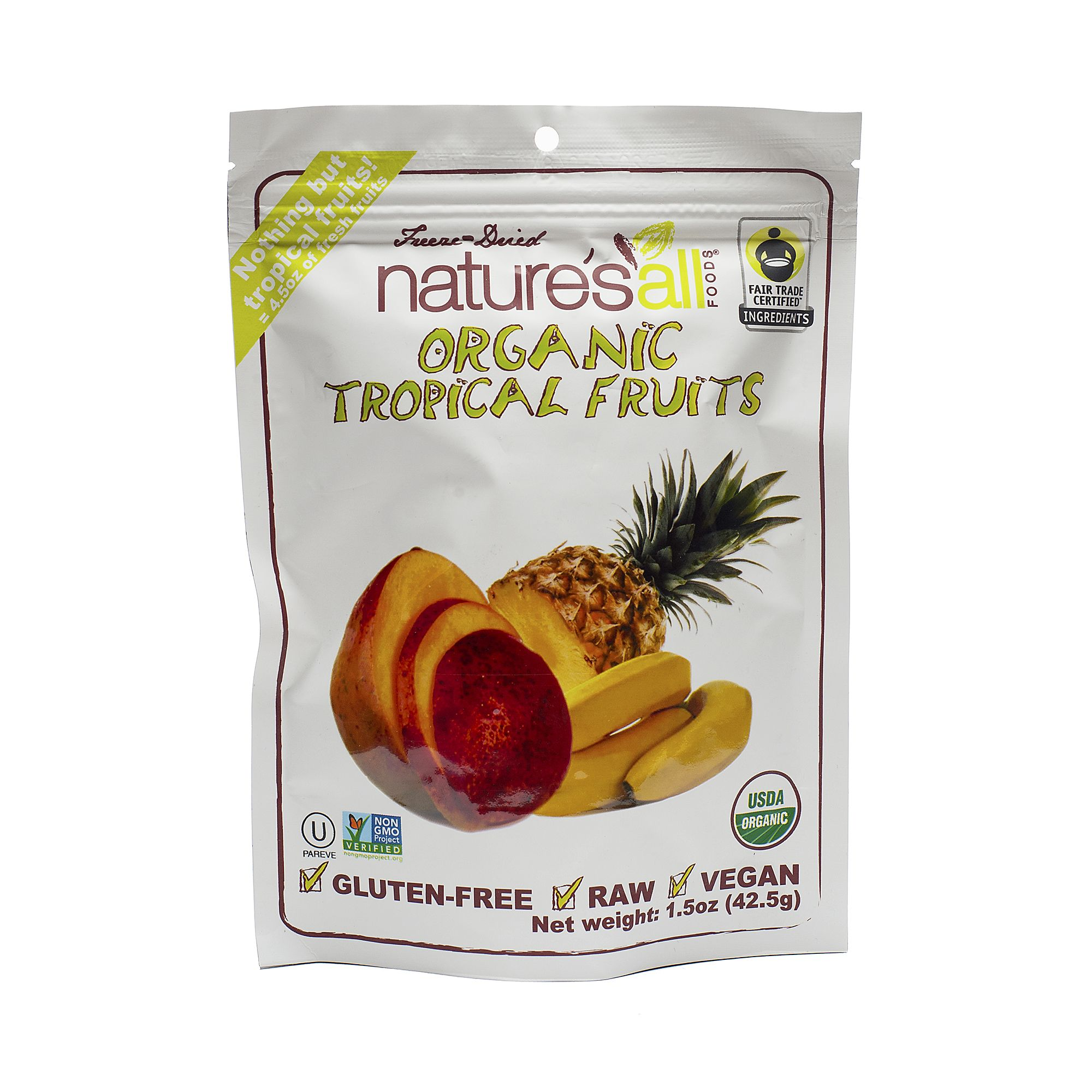 Shop Nature`s All Foods Organic Freeze Dried Tropical Fruits