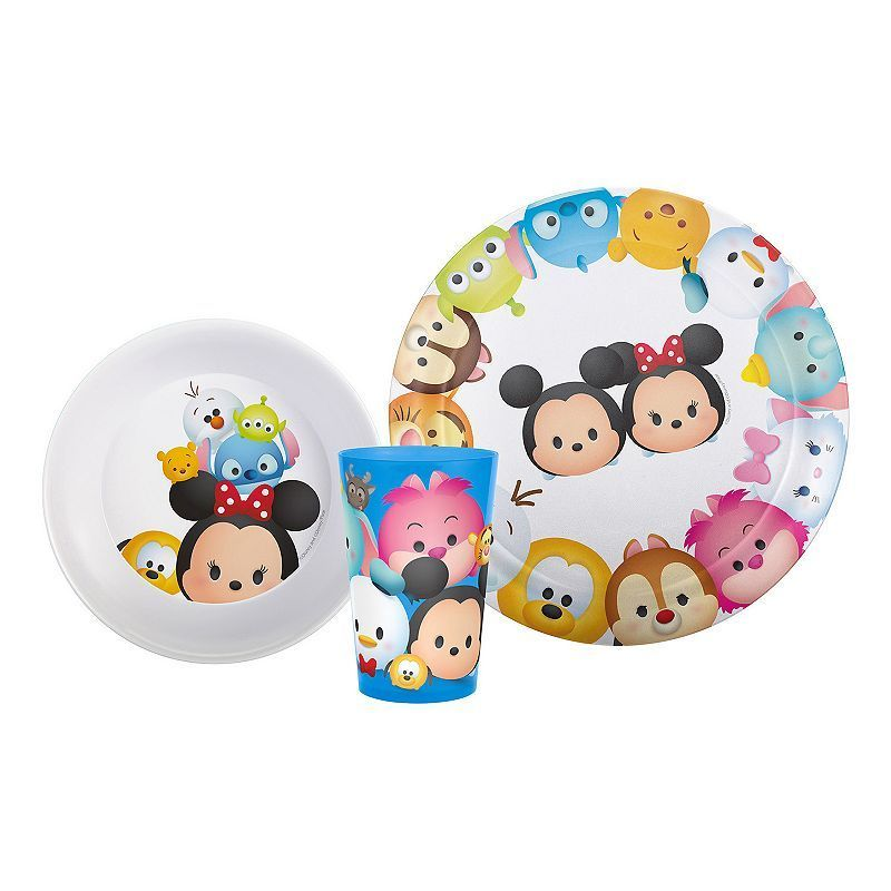 Disney S Tsum Tsum 3 Pc Kid S Dinnerware Set Kids Dishes