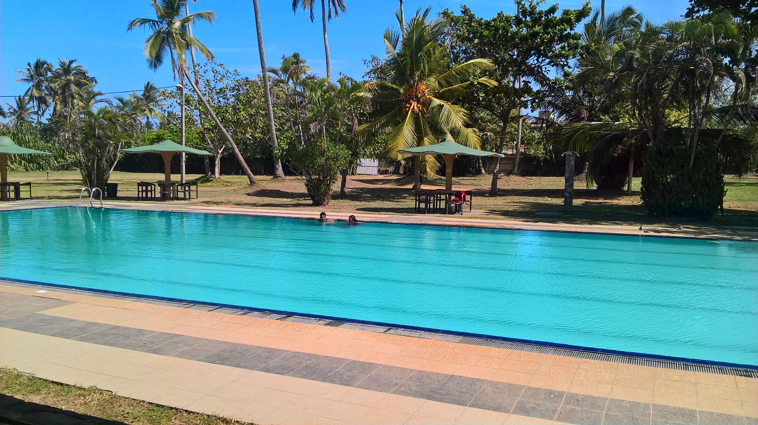 A Swimming Pool At A Hotel In Sri Lanka