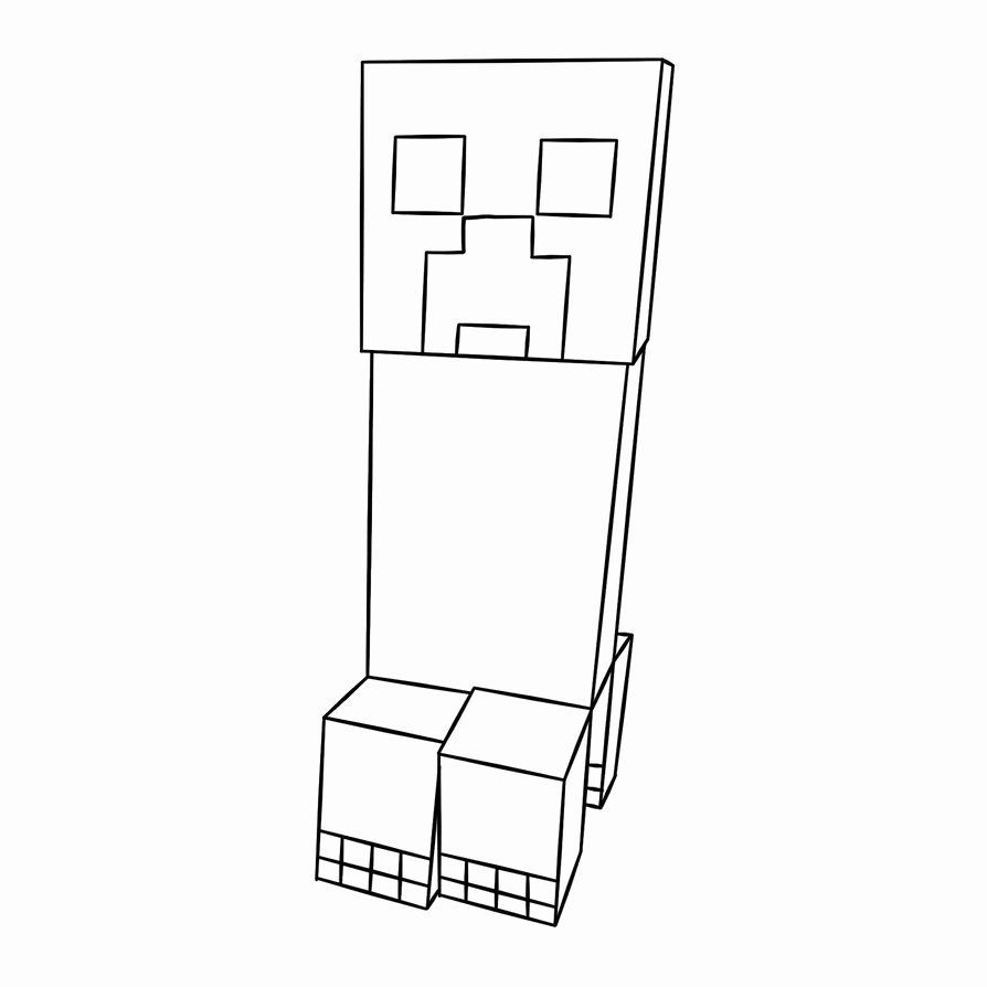 Minecraft Creeper Coloring Page Beautiful Free Printable Minecraft