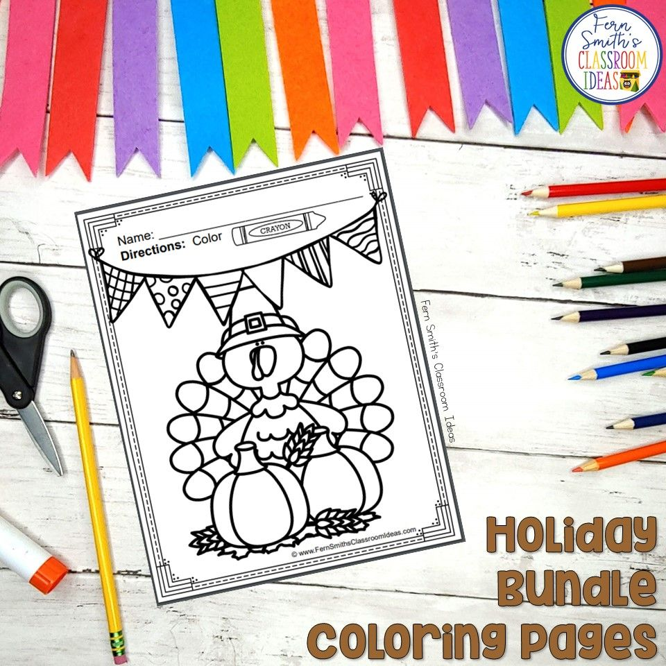 Halloween Coloring Pages and Thanksgiving, Hanukkah ...