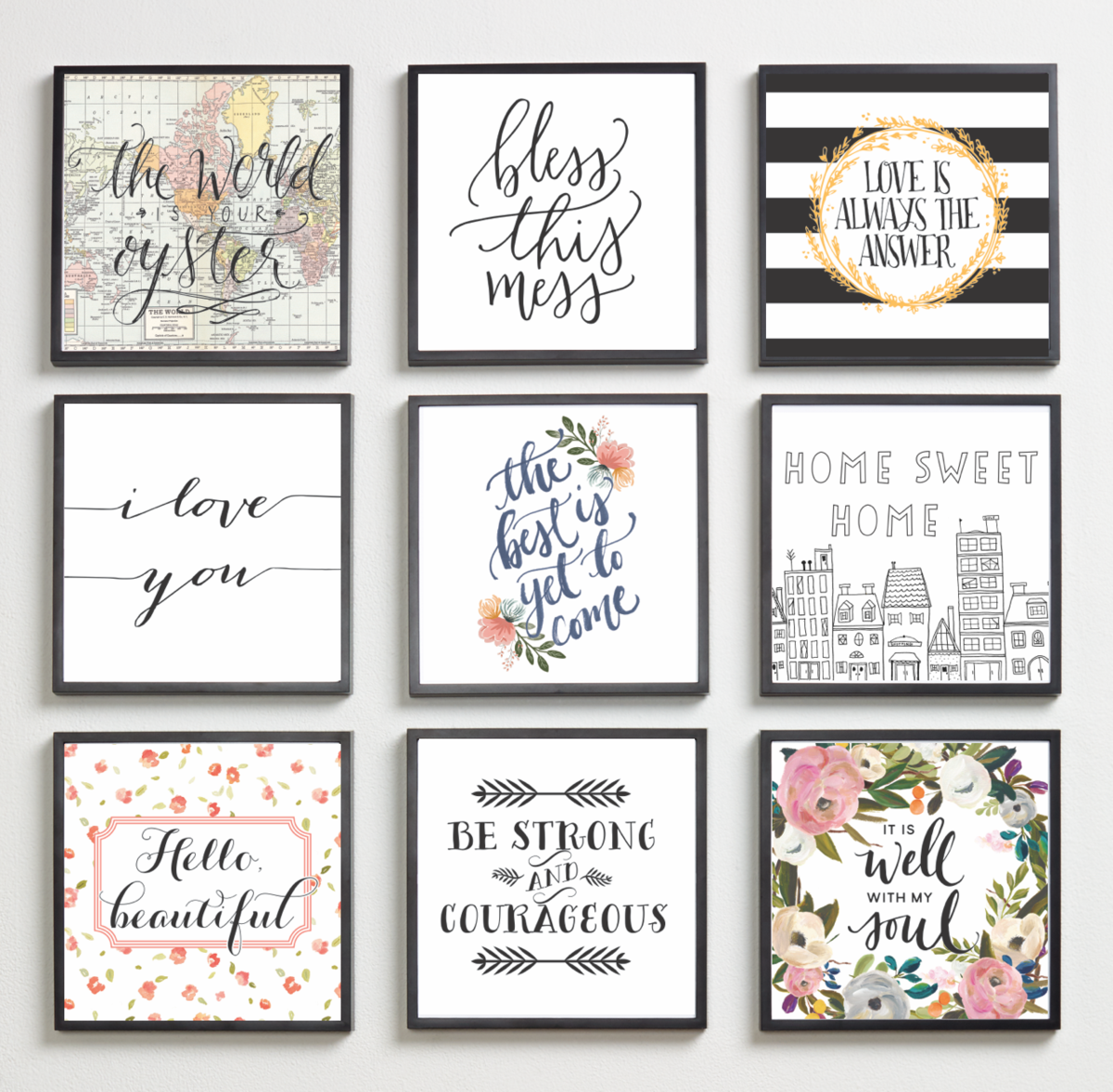 Classic Inspirational Home Quotes In 2019 Creative Wall