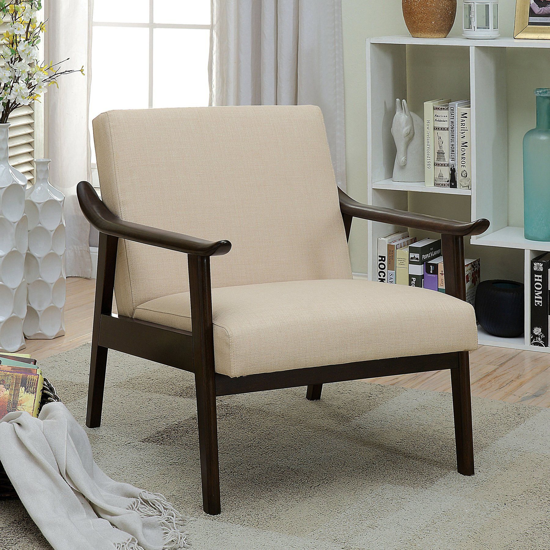 Furniture Of America Soletsi Contemporary Accent Chair