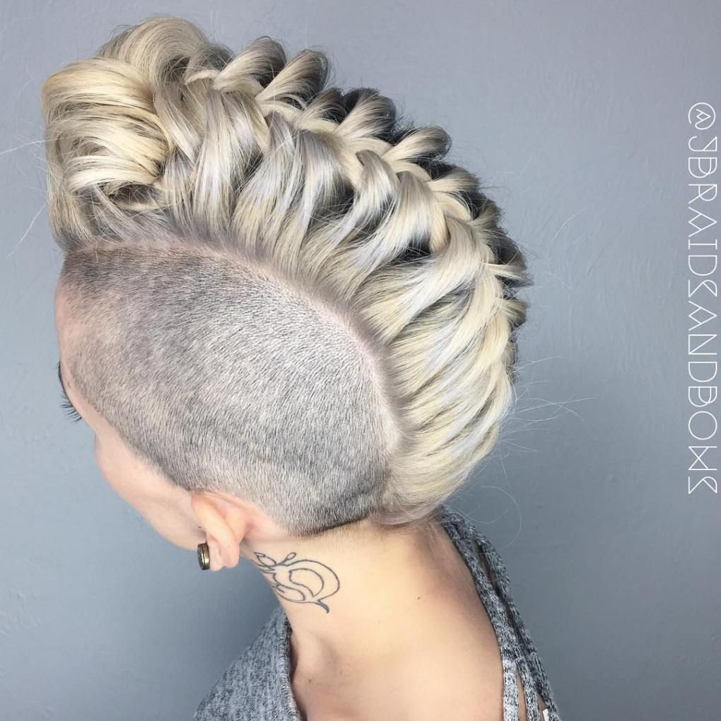 20 Cute Upside Down French Braid Ideas Braids With Shaved Sides Hair Styles Braided Mohawk Hairstyles