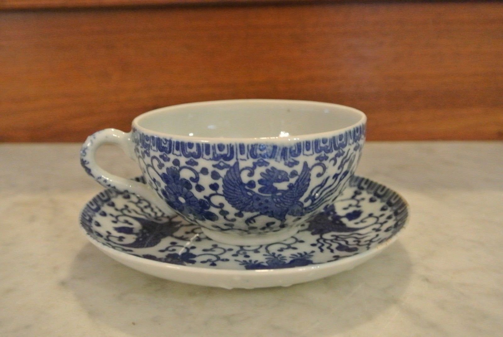 Vintage Japanese Phoenixware teacup and saucer
