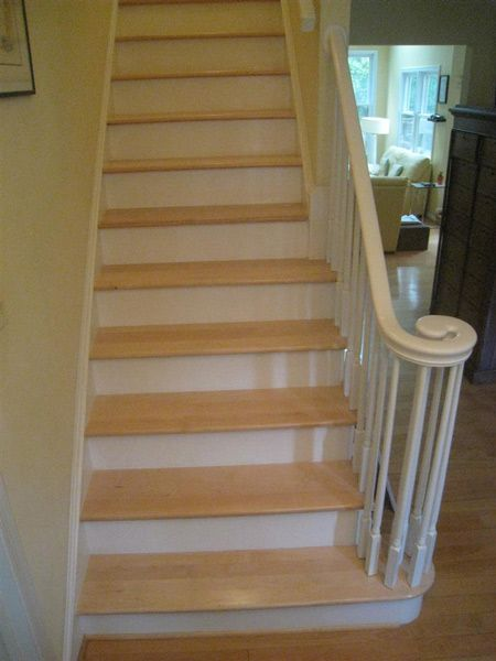 Maple Stair Treads The Rich Warm Look Of Hard Maple Makes It A | Stair Treads For Wood Stairs | Anti Slip Stair | Stair Nosing | Stair Risers | Hardwood Flooring | Examples Terramai
