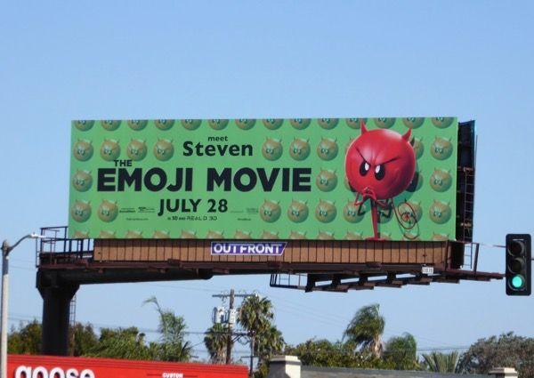 The Emoji Movie Meet Steven billboard La Brea Avenue