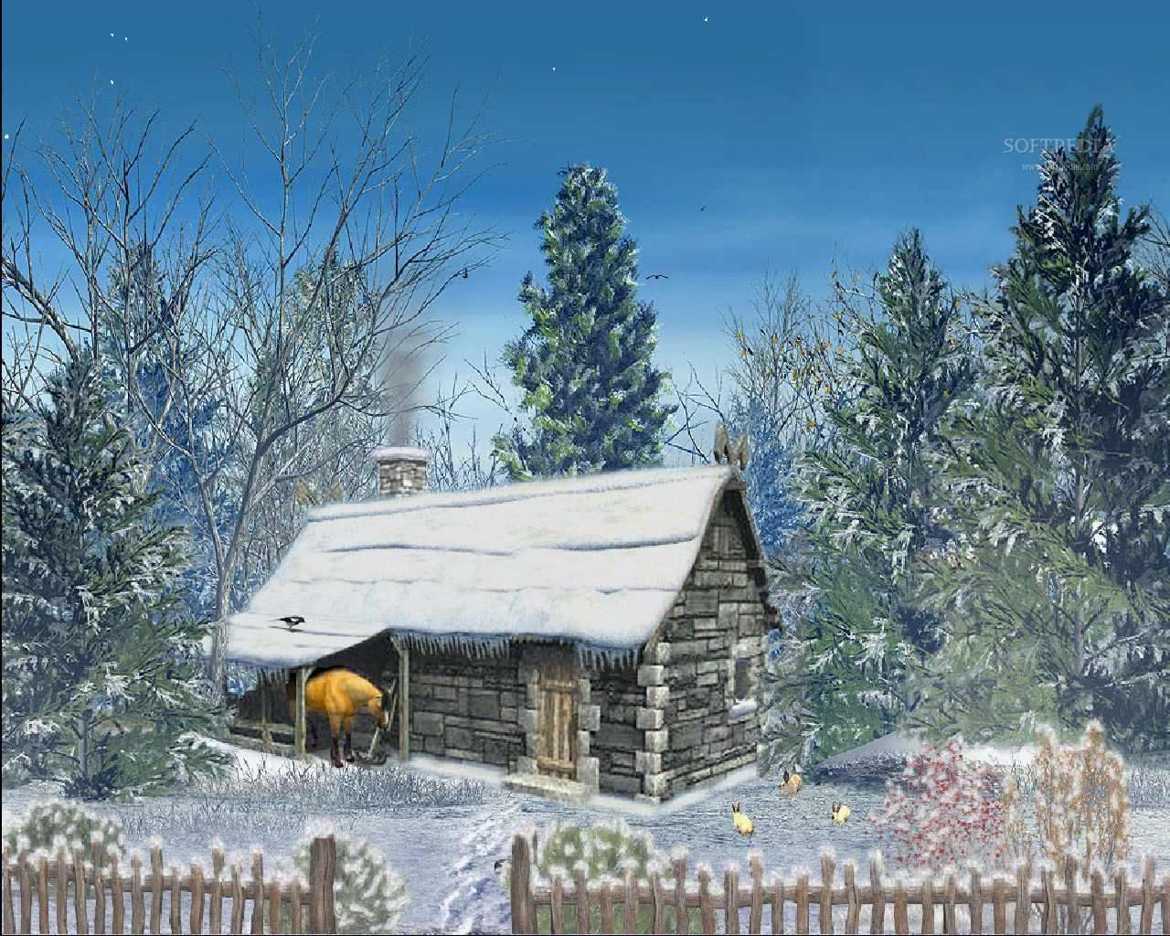 Snowy christmas scenes wallpaper wallpapersafari christmas snowy christmas scenes wallpaper wallpapersafari voltagebd Image collections