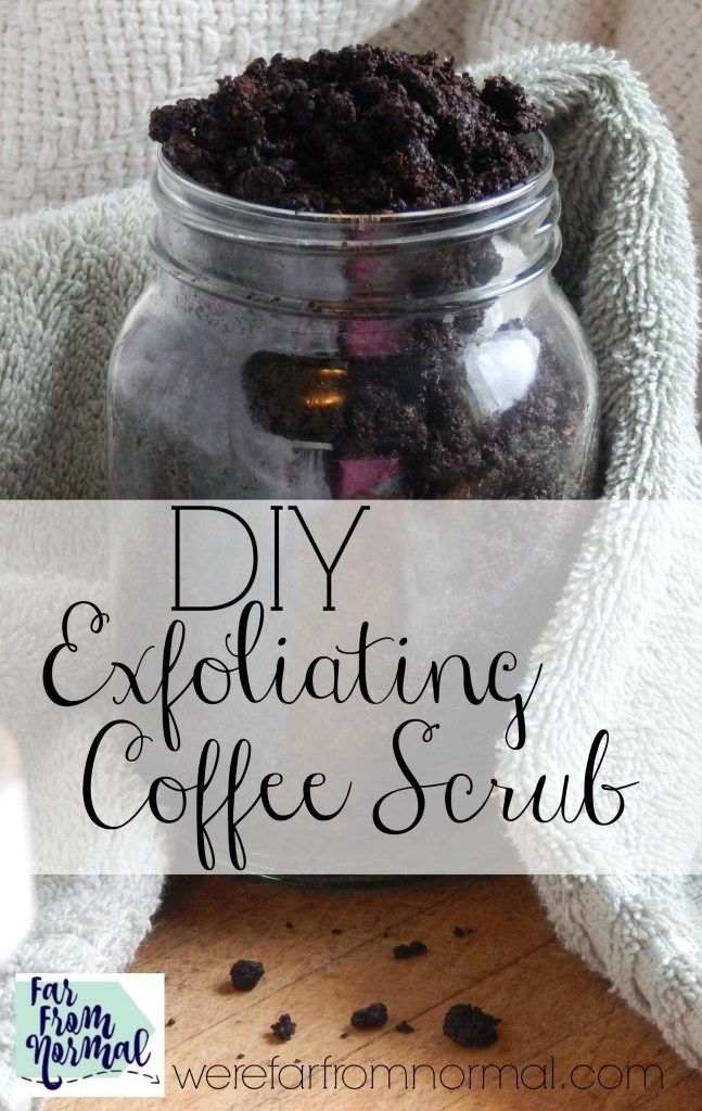 Whip together this awesome smelling coffee scrub with