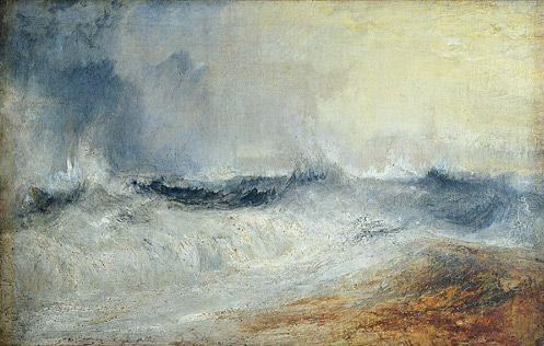 Waves Breaking against the Wind, J. M. W. Turner, c. 1840