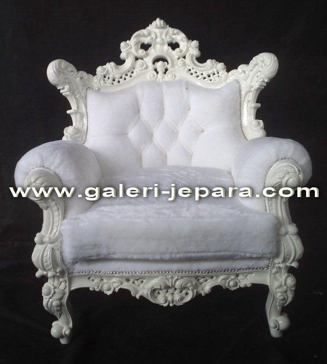 White Big Fluffy Chair.