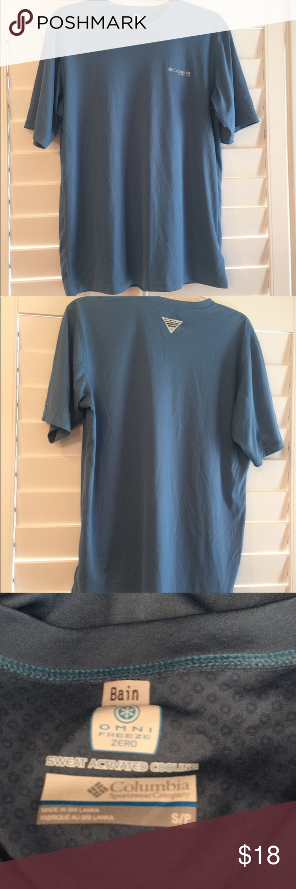 Columbia Pfg Freeze Zero Cooling Shirt Sz S With Images Cool