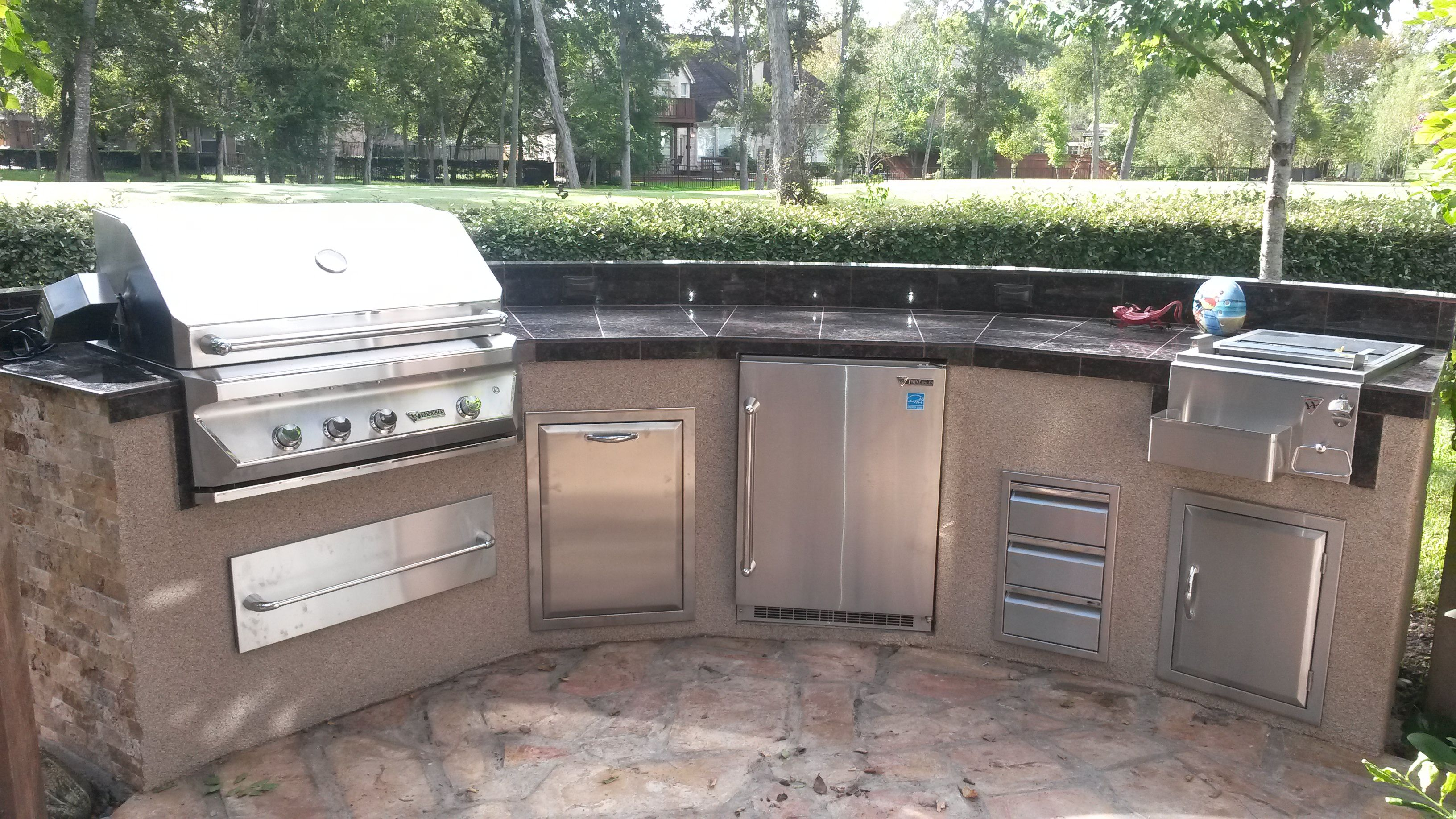 Outdoor Kitchen With Twin Eagle Appliances By Increte Of Houston Outdoor Kitchen Kitchen Kitchen Cabinets