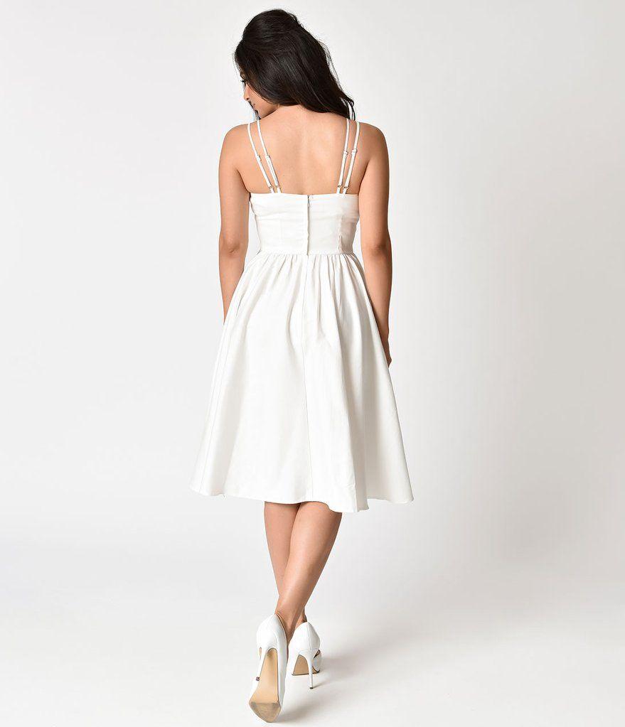 Unique Vintage 1940s Style White Brushed Cotton Luna Swing Dress Mesh Capelet Vintage Dresses Online Vintage Inspired Dresses Dresses [ 1023 x 879 Pixel ]