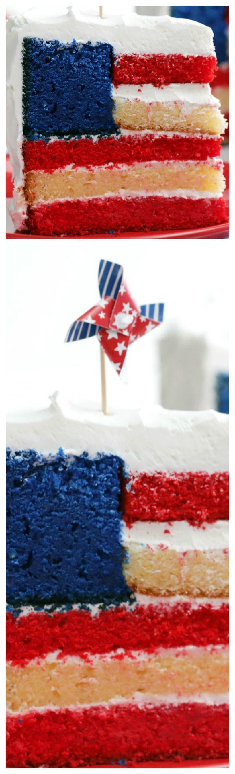 Flag Cake Recipe In 2020 Flag Cake Cake Flag Cake Recipe