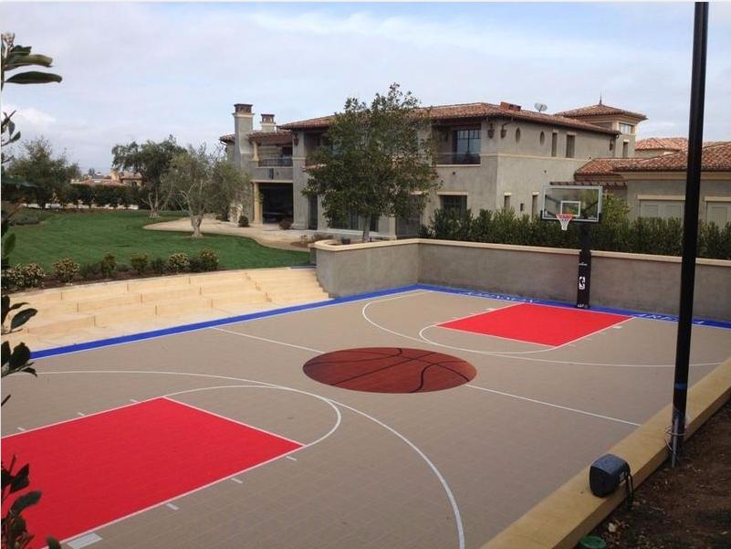 Backyard Court Basketball Court Backyard Home Basketball Court Backyard Basketball