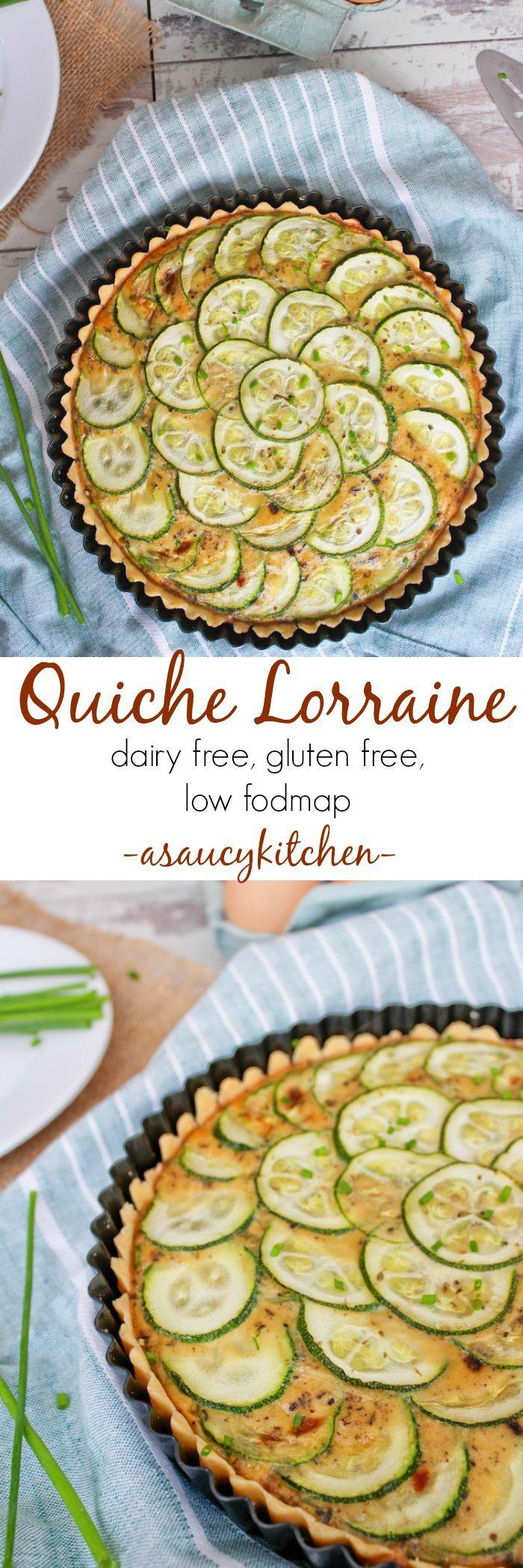 Quiche Lorrain  Dairy & Gluten Free  asaucykitchen.com