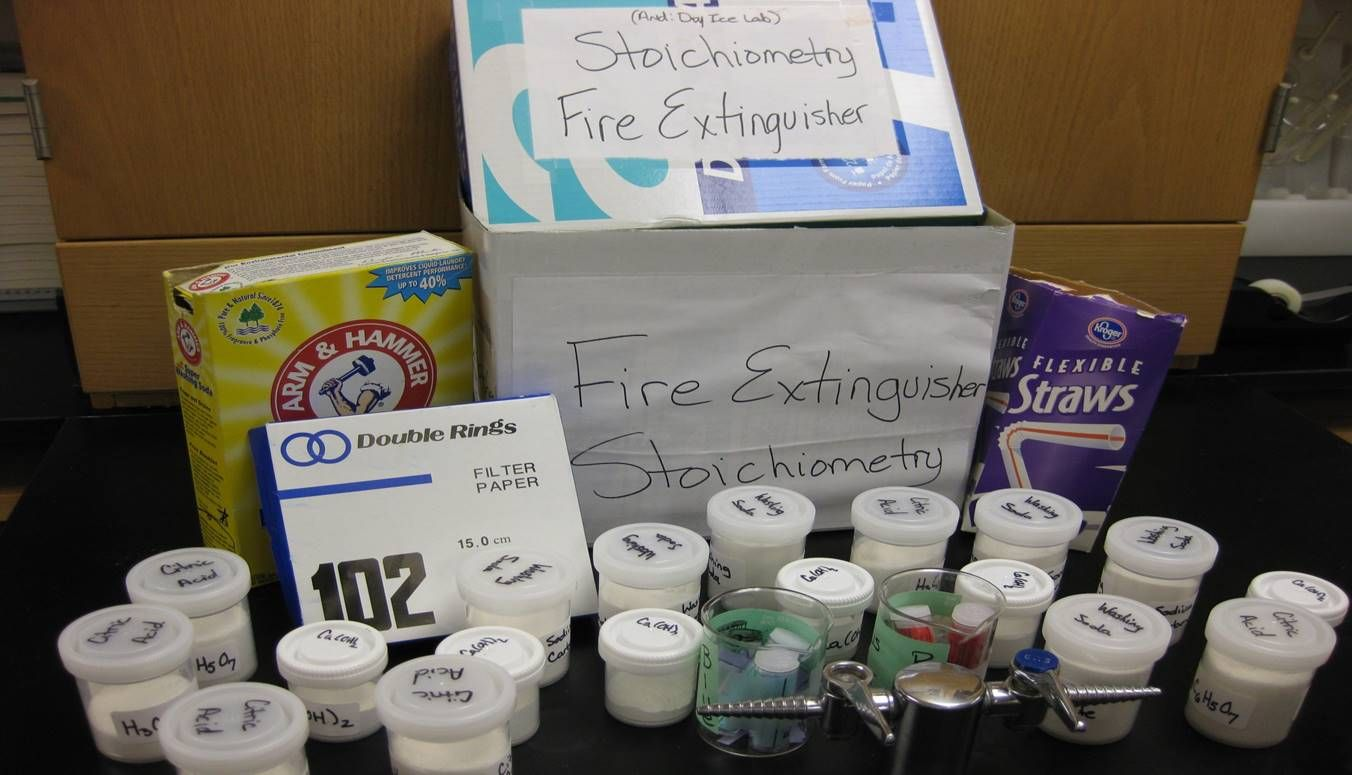 Fire extinguisher stoichiometry a great kit