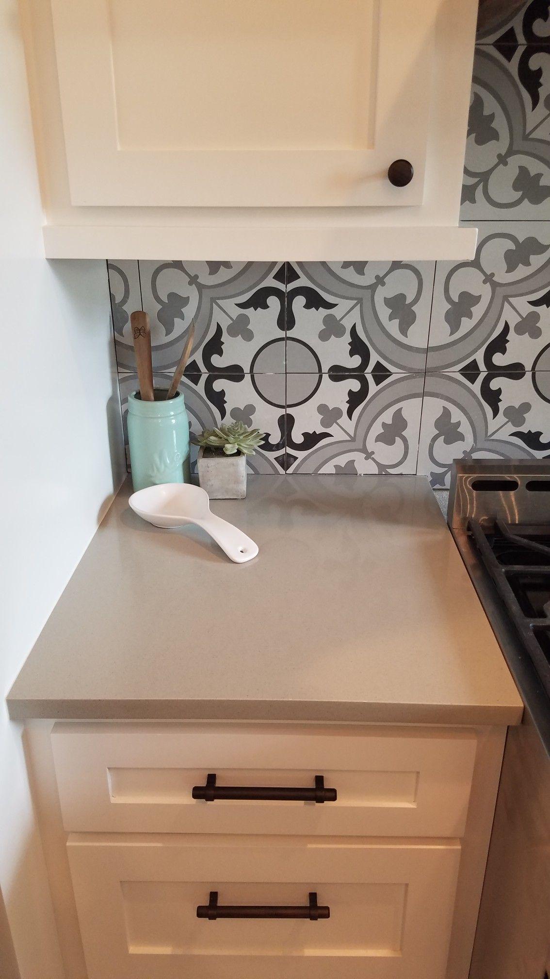 Check out my pros and cons, quartz counter tops vs concrete