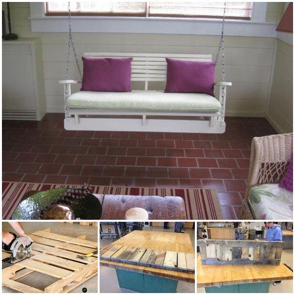 pallet swing chair wonderfuldiy 50 Wonderful Pallet Furniture Ideas and Tutorials