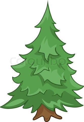 Stock Vector Of Cartoon Nature Tree Fir Isolated On White Background Nature Tree Cartoon Trees Christmas Tree Pictures