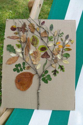 arbre feuilles | DIY enfants | Feuille automne, Automne et ...
