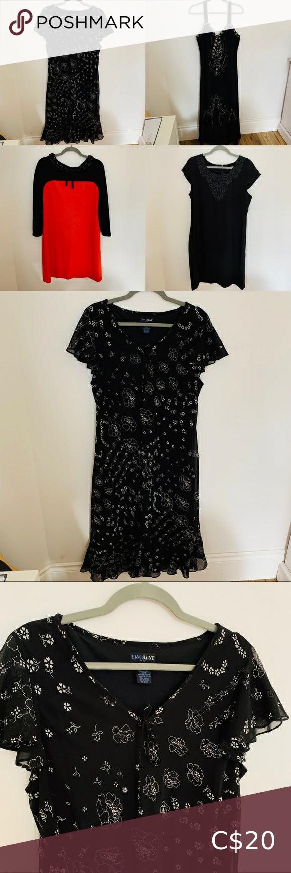 Bundle 4 Women S Size 14 16 Dresses Black Sequin Mini Dress Black Dress With Sleeves Long Sleeve Dress [ 1740 x 580 Pixel ]