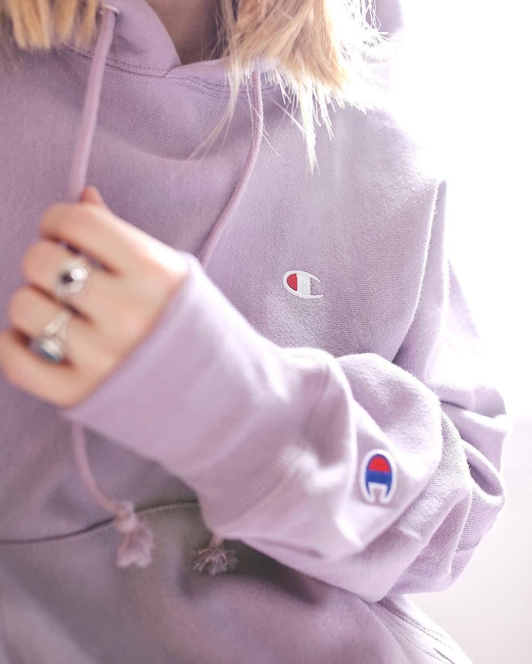Champion lilac hoodie  7d19f41ddd17