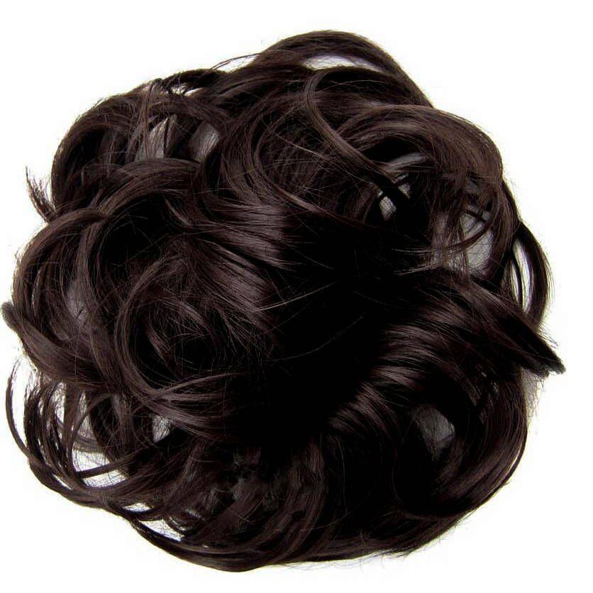 Postizo elástico de moño desordenado  – Peinados