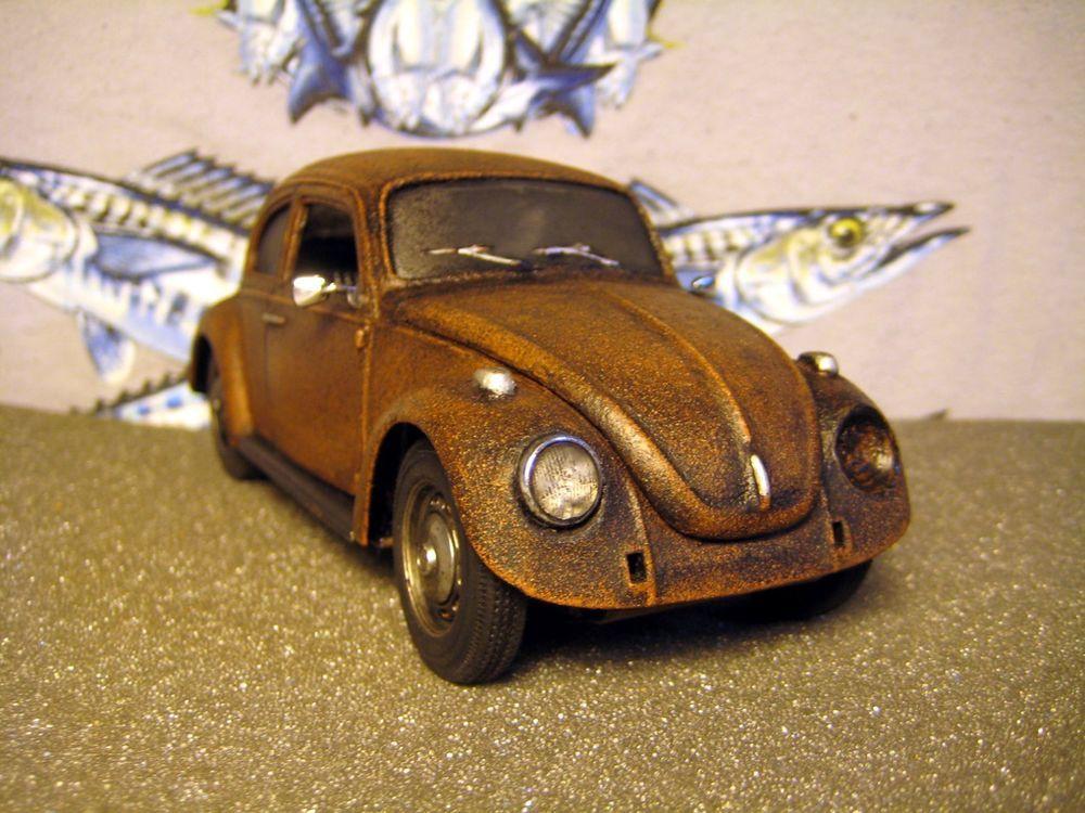 BARN FIND WEATHERED JUNKYARD RUSTY VOLKSWAGEN VW BUG BEETLE