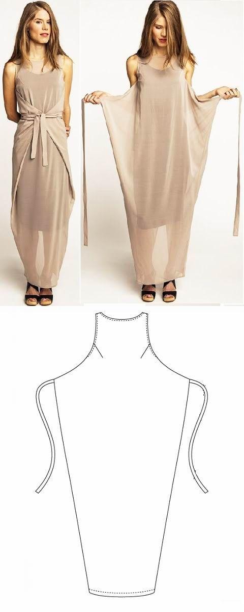 Simple Wrap Dress | Vestidos cruzados | Pinterest | Costura, Ropa y ...