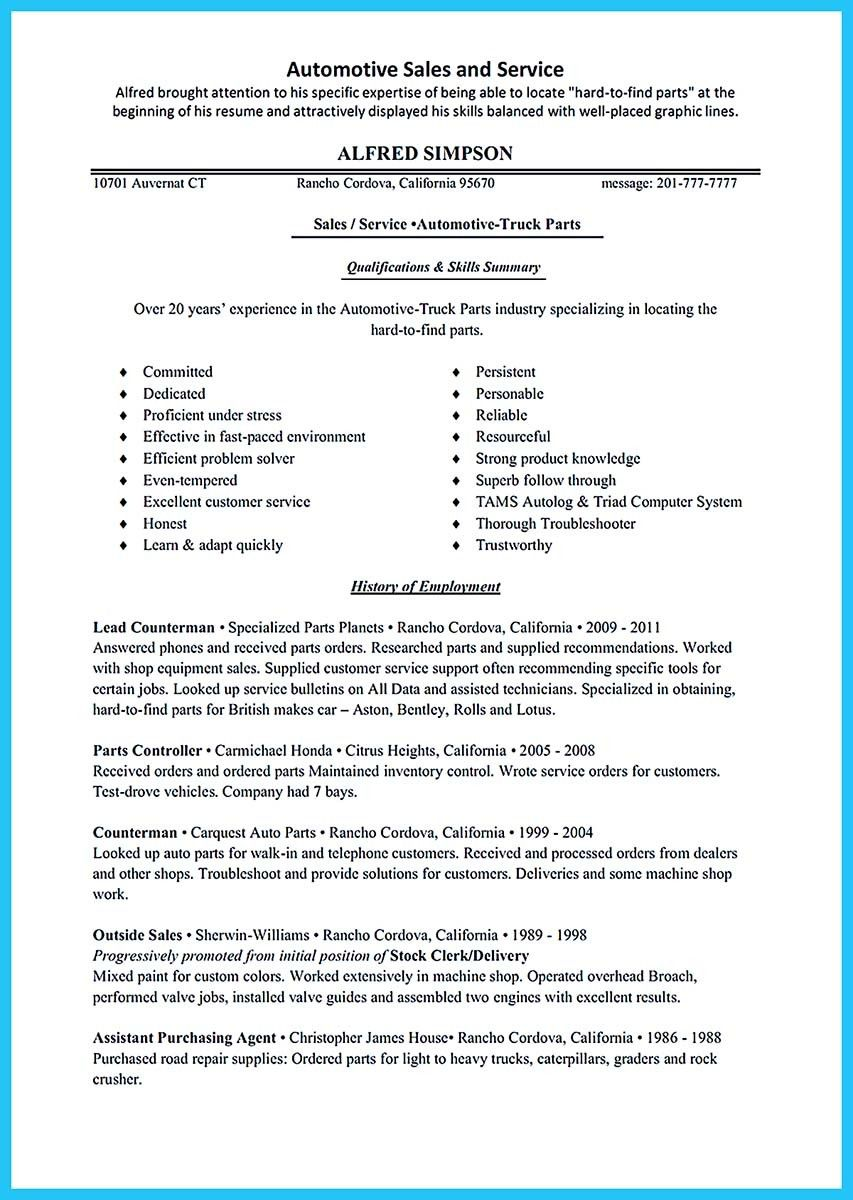 Cool Delivering Your Credentials Effectively On Auto Mechanic Resume