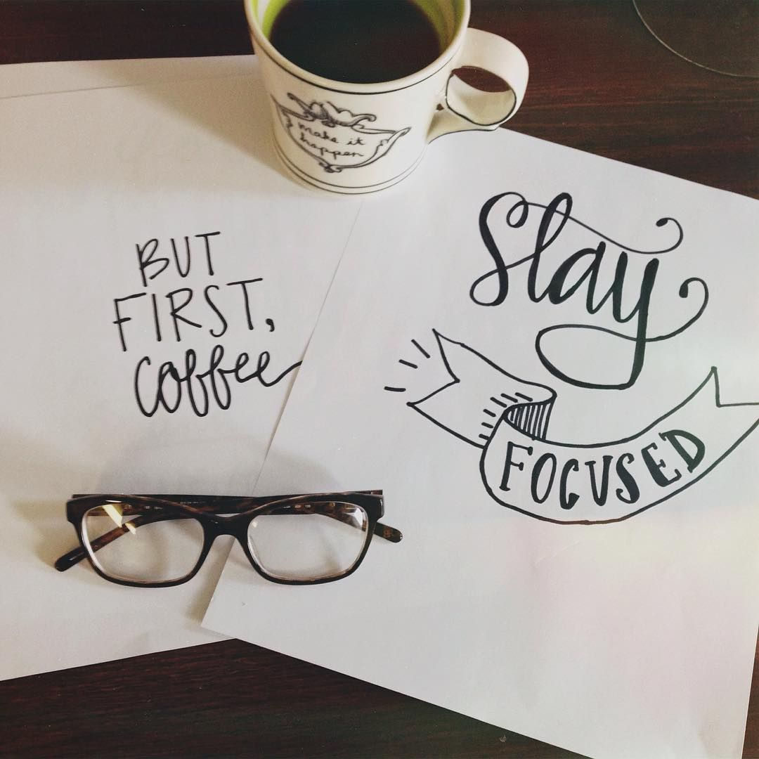 Inspiration. #allthecoffees #handlettering #typography