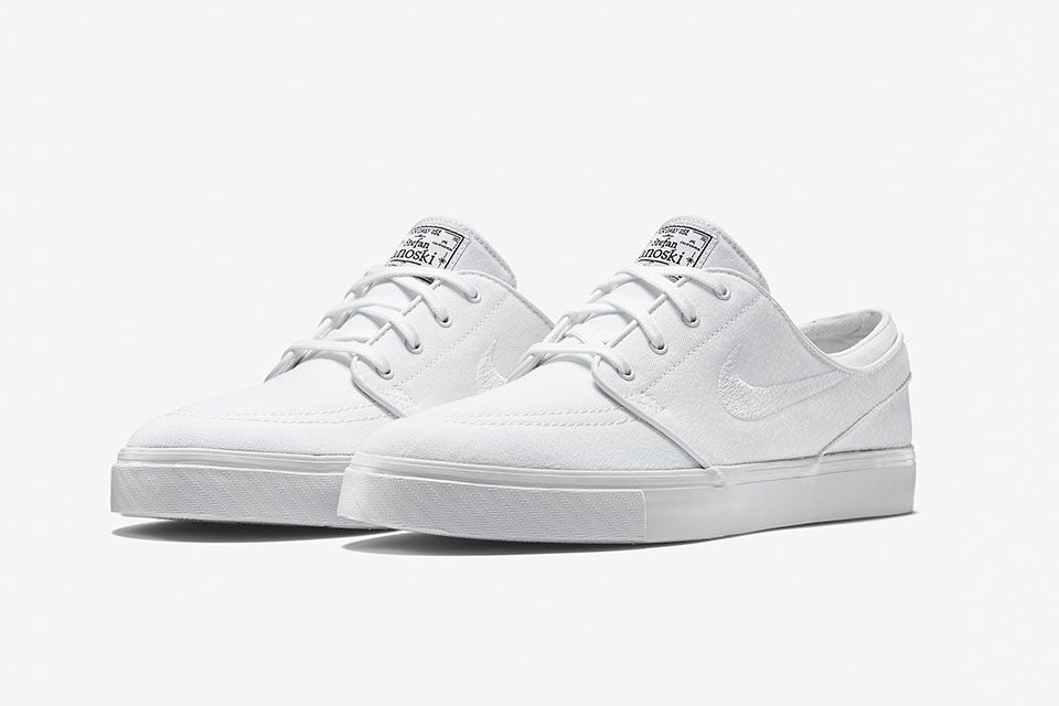 cheap for discount ff524 e076f Nike SB Zoom Stefan Janoski Canvas - All-White