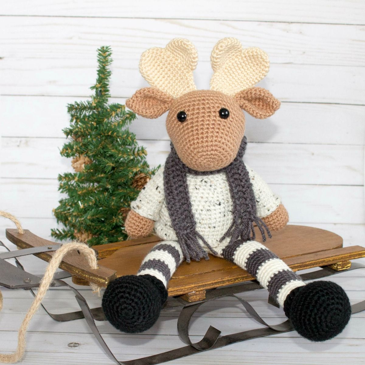 This crochet moose and crochet reindeer was a lot of fun to make! I ...