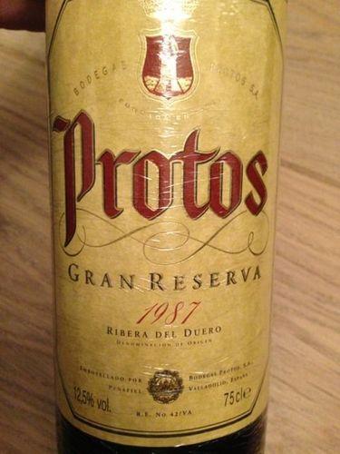 Protos Ribera del Duero Gran Reserva 1987