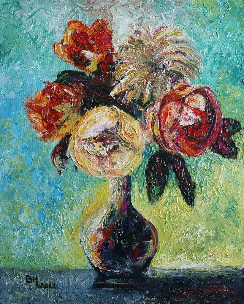 Popular Modern Artists 35 paintings of flowersfamous artists | flower paintings